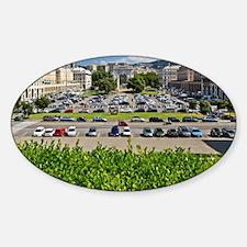 Piazza della Vittoria in Genova Sticker (Oval)