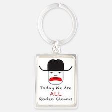 Rodeo Clown Portrait Keychain