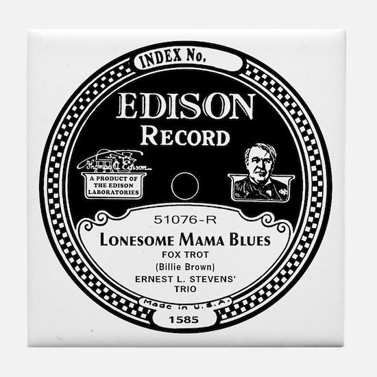 Lonesome Mama Blues Tile Coaster