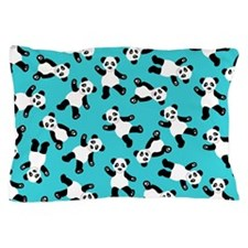 Cute Happy Panda Bear Cartoon Print Bl Pillow Case