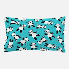 Cute Happy Panda Bear Cartoon Print Bl Pillow Case