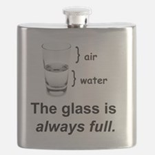 Glass Always Full Flask