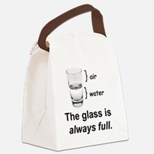 Glass Always Full Canvas Lunch Bag