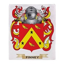 Finney Coat of Arms Throw Blanket