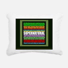 supernaturalgreenqueen Rectangular Canvas Pillow