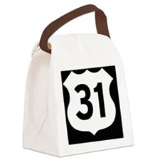 US 31 Highway Shield Canvas Lunch Bag