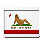 Bears Gone Wild! Flag Mousepad