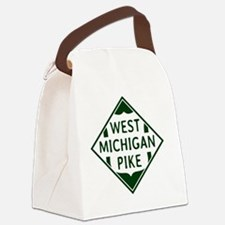 3 x 3 Vintage West Michigan Pike  Canvas Lunch Bag