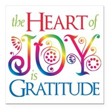 "The Heart of Joy Square Car Magnet 3"" x 3"""
