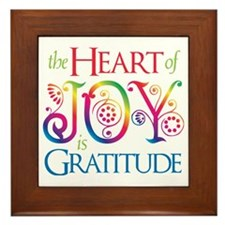 The Heart of Joy Framed Tile