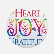 The Heart of Joy Round Ornament