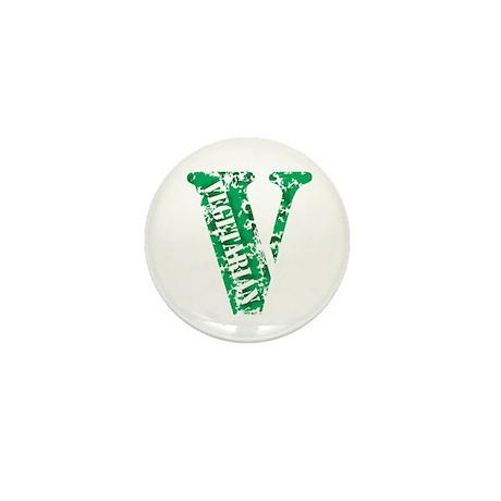 Vegetarian Distressed Mini Button (10 pack)
