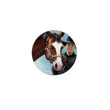 Quarter Horse Halter Youth Mini Button
