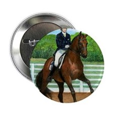 "Hanoverian Dressage Horse 2.25"" Button"