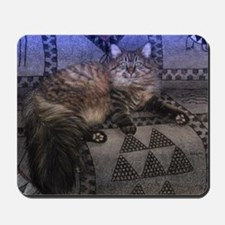 Long Haired Tabby Cat Mousepad