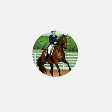 Hanoverian Dressage Horse Mini Button