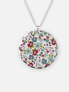 Plum large floral Necklace