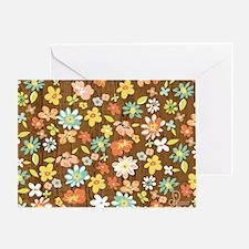 wood floral Greeting Card