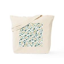blue bonnet mini floral Tote Bag