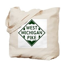 Vintage West Michigan Pike Herald Tote Bag