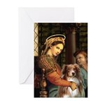 Madonna-Aussie Shep #4 Greeting Cards (Pk of 10)