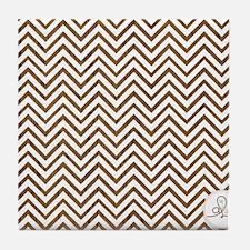 chevron woodgrain Tile Coaster