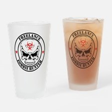 Freelance Zombie Hunter Drinking Glass