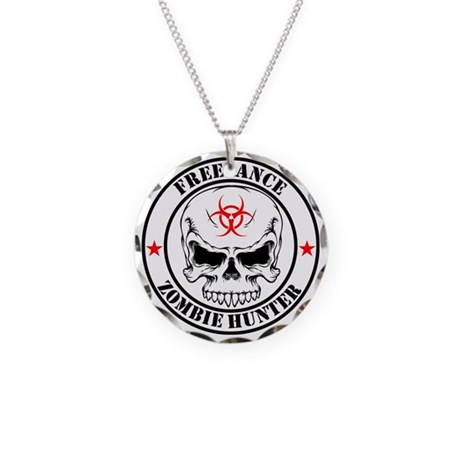 Freelance Zombie Hunter Necklace Circle Charm