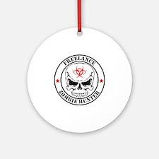 Freelance Zombie Hunter Round Ornament