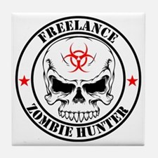 Freelance Zombie Hunter Tile Coaster