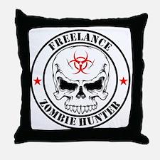 Freelance Zombie Hunter Throw Pillow