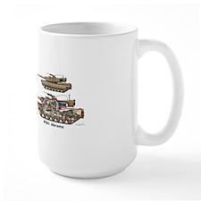 M1A1 Abrams MBT Front View Mug