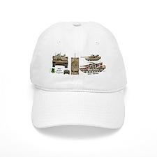 M1A1 Abrams MBT Front View Baseball Cap