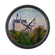 neuschwanstein square Large Wall Clock