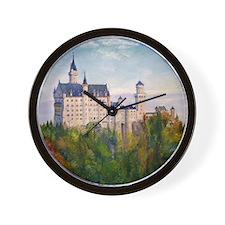neuschwanstein square Wall Clock
