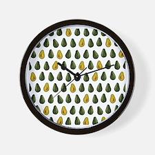 Avocado Pattern Wall Clock