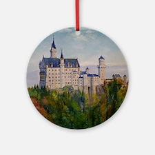 Neuschwanstein Round Ornament
