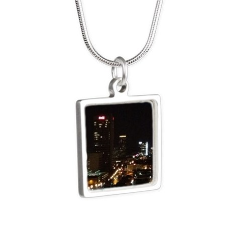 Denver night Silver Square Necklace