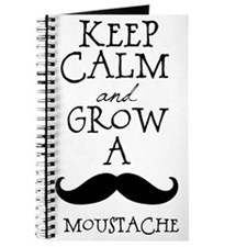 Keep Calm Mustache Journal