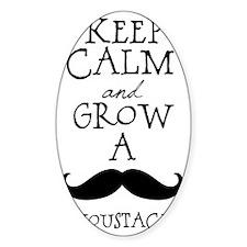 Keep Calm Mustache Decal