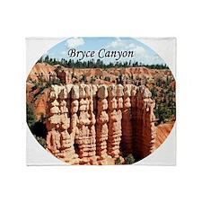 Bryce Canyon, Utah, USA (oval captio Throw Blanket