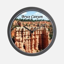 Bryce Canyon, Utah, USA (oval caption) Wall Clock