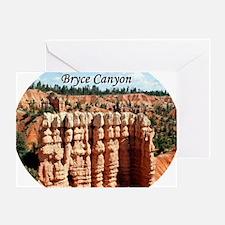 Bryce Canyon, Utah, USA (oval captio Greeting Card