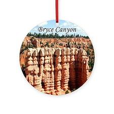 Bryce Canyon, Utah, USA (oval capti Round Ornament