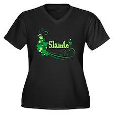 Sláinte Women's Plus Size V-Neck Dark T-Shirt