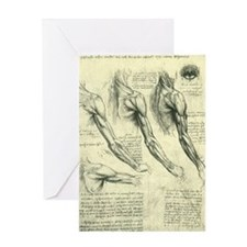 Male Anatomy by Leonardo da Vinci Greeting Card