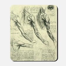 Male Anatomy by Leonardo da Vinci Mousepad