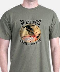 We Eat PETA For Lunch Wolf T-Shirt