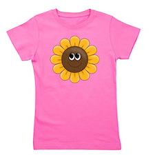 cute sunflower smiley face cartoon Girl's Tee