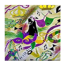 mardi gras party Tile Coaster